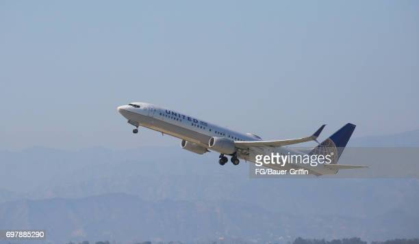 United Airlines Boeing 737 at Los Angeles International Airport on June 18 2017 in Los Angeles California