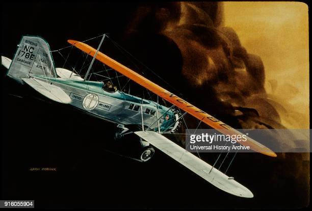 United Airlines Boeing NC178E Cascade Mail Biplane
