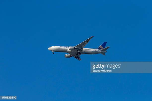 United Airlines Boeing take off from San Francisco Airport