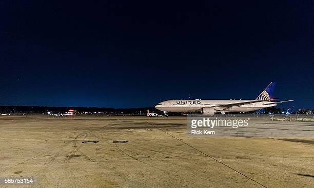 United Airlines celebrates Team USA as over 85 US athletes takeoff at George Bush Intercontinental Airport in Houston Texas on August 3 en route to...