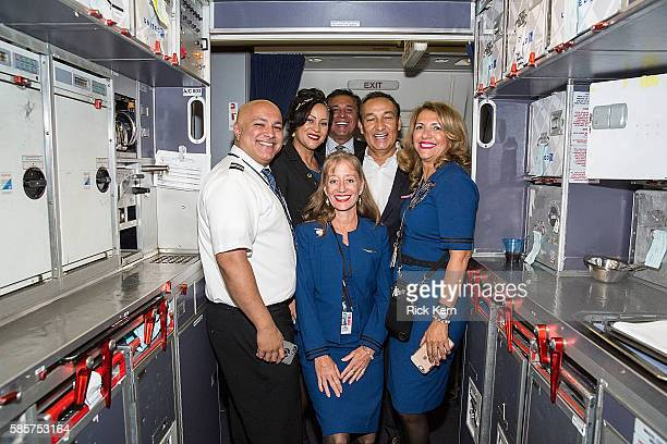 United Airlines CEO Oscar Munoz and United Airlines celebrates Team USA as over 85 US athletes get ready to board their flight at George Bush...