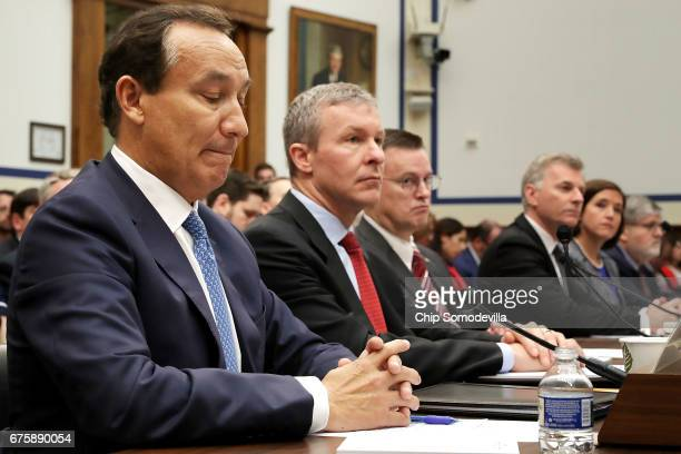 United Airlines CEO Oscar Munoz United Airlines President Scott Kirby American Airlines Senior Vice President of Customer Experience Kerry...