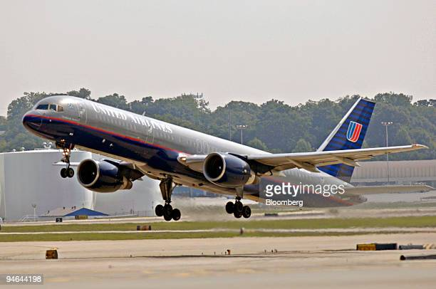 United Airlines flight takes off from HartsfieldJackson Atlanta International Airport Monday July 31 in Atlanta Georgia United Airlines parent UAL...
