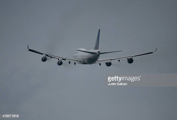 United Airlines plane takes off from San Francisco International Airport on June 10 2015 in San Francisco California The Environmental Protection...