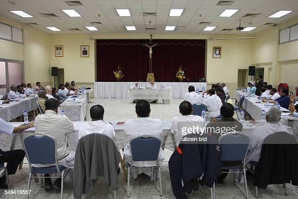 ARE United Arab Emirates Abu Dhabi The Capuchin's bishop Paul Hinder apostolic administrator of Arabia with headquarter in Abu Dhabi