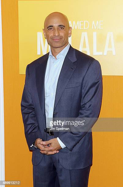 United Arab Emirates ambassador Yousef Al Otaiba attends the 'He Named Me Malala' New York premiere at the Ziegfeld Theater on September 24 2015 in...