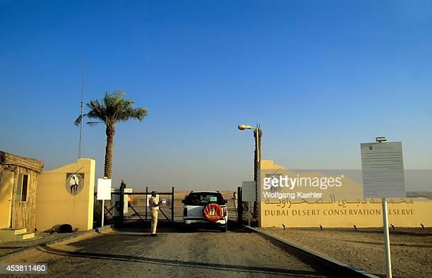 United Arab Emirates Dubai Entrance To Dubai Desert Conservation Reserve
