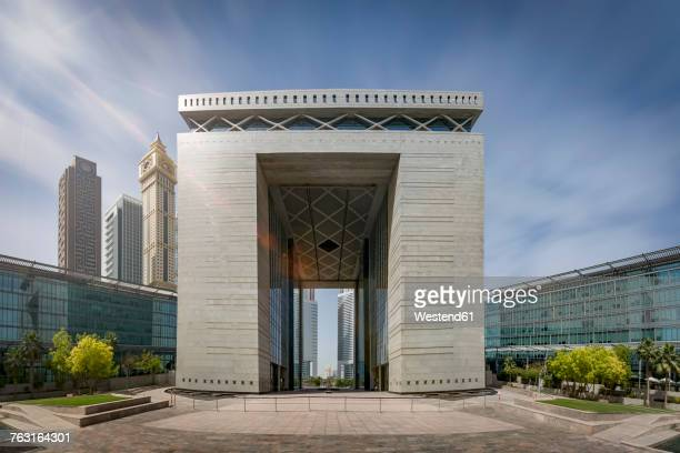 United Arab Emirates, Dubai, Gate Building in the Dubai international Financial Centre