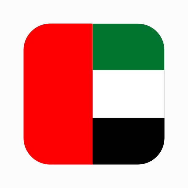 United Arab Emirates flag simple illustration for independence day or election
