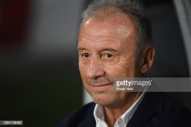 United Arab Emirates head coach Alberto Zaccheroni of Italy looks on prior to the AFC Asian Cup Group A match between the United Arab Emirates and...