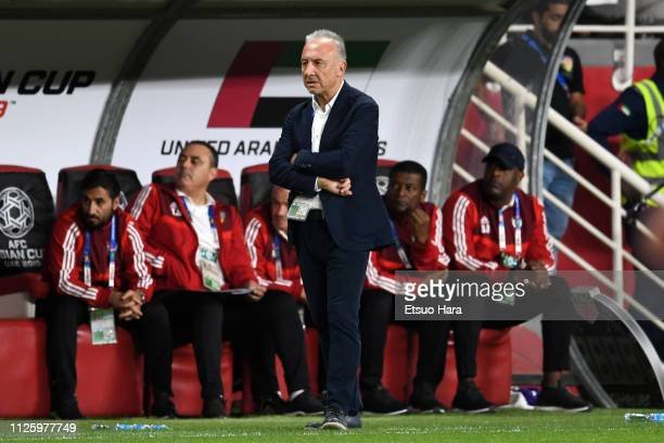 United Arab Emirates head coah Alberto Zaccherini of Italy looks on during the AFC Asian Cup semi final match between Qatar and United Arab Emirates...