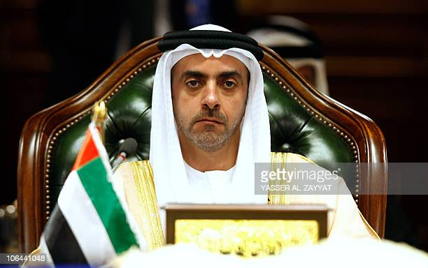 United Arab Emirates' Interior Minister Sheikh Saif bin Zayed alNahayan attends the 29th meeting for the Interior Ministers of the sixnation Gulf...