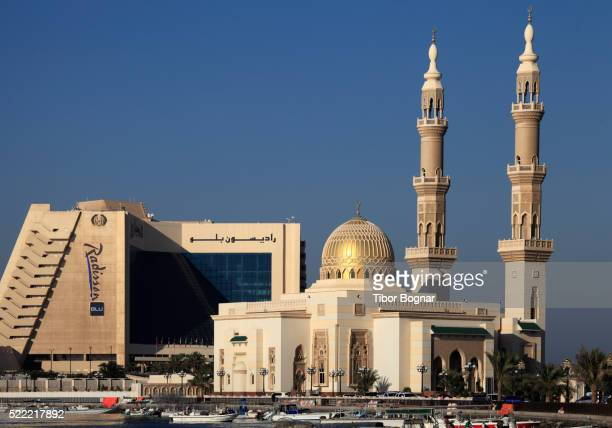 United Arab Emirates, Sharjah, Corniche Street, mosque