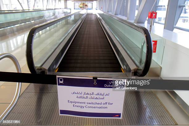 United Arab Emirates UAE UAE Middle East Dubai Al Safa Noor Islamic Bank Metro Station Red Line subway public transportation
