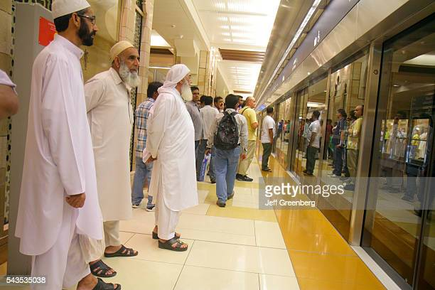 United Arab Emirates UAE UAE Middle East Dubai Al Souqe Al Kabeer Al Ghubaiba Metro Station Green Line subway public transportation waiting