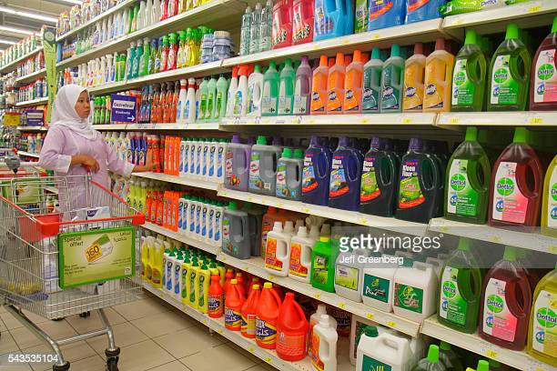 United Arab Emirates UAE UAE Middle East Dubai Al Souqe Al Kabeer Carrefour Hyper Market shopping department store for sale cleaning supplies