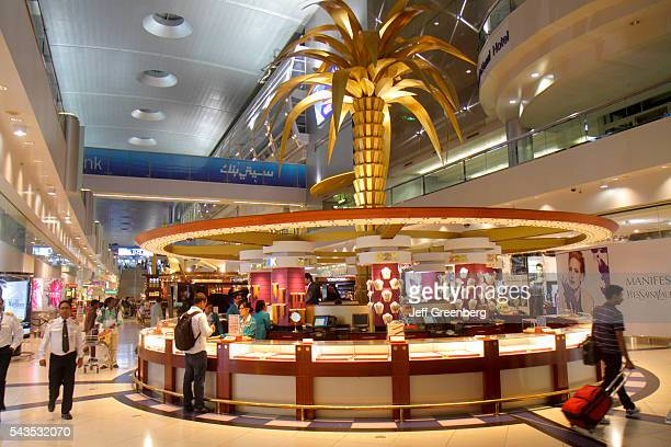 United Arab Emirates UAE UAE Middle East Dubai International Airport gate area concourse Sheikh Rashid Terminal shopping