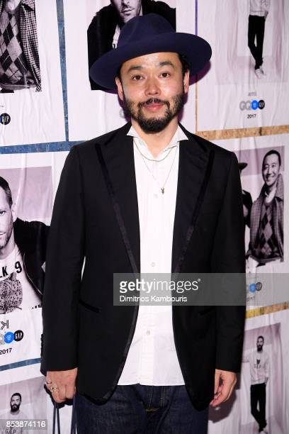 United Arrows Designer Poggy attends GQ x GAP Coolest Designers on the Planet 2017 at St Ann's Warehouse on September 25 2017 in New York City