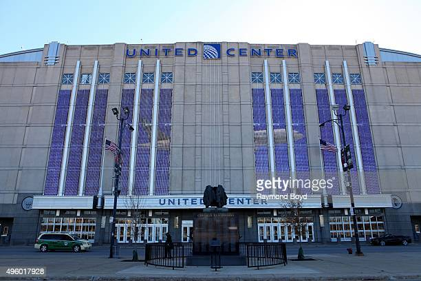 United Center home of the Chicago Bulls basketball team and Chicago Blackhawks hockey team in Chicago Illinois on November 2 2015
