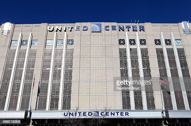 United Center home of the Chicago Bulls basketball team and Chicago Blackhawks hockey team in Chicago Illinois on November 2 2015