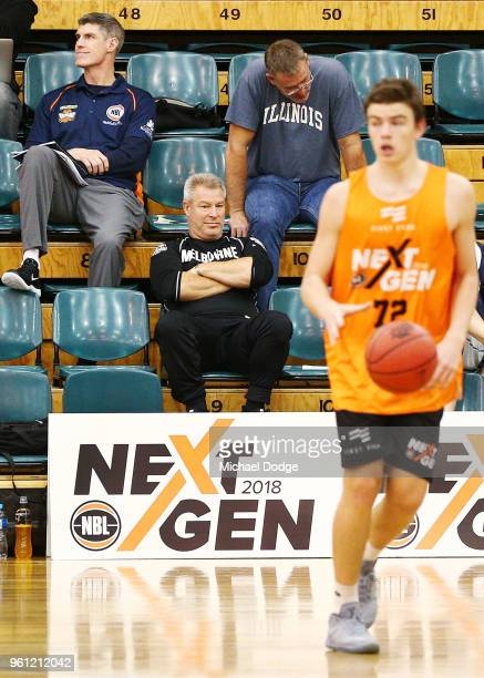 United coach Dean Vickerman is seen at the Melbourne Sports and Aquatic Centre on May 21 2018 in Melbourne Australia