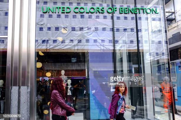 A United Colors Of Benetton store is pictured in central London on August 29 2018 Following the collapse of Morandi Bridge in Genoa which costed the...