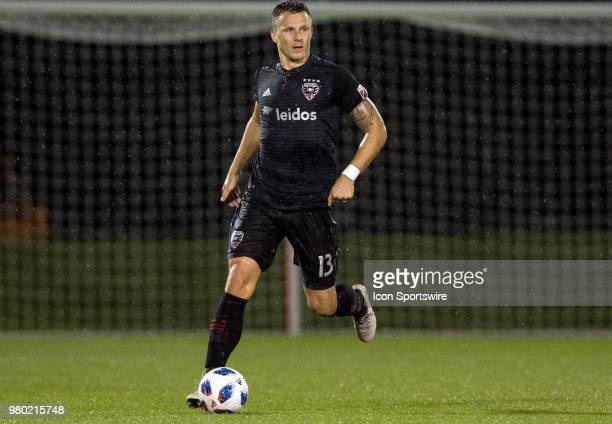 C United defender Frederic Brillant starts an attack during a USOC round of sixteen match between DC United and Orlando City SC on June 20 at...