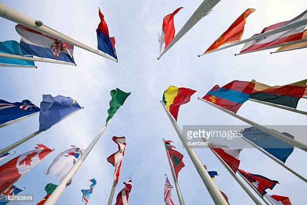 united flags - international politics stock pictures, royalty-free photos & images