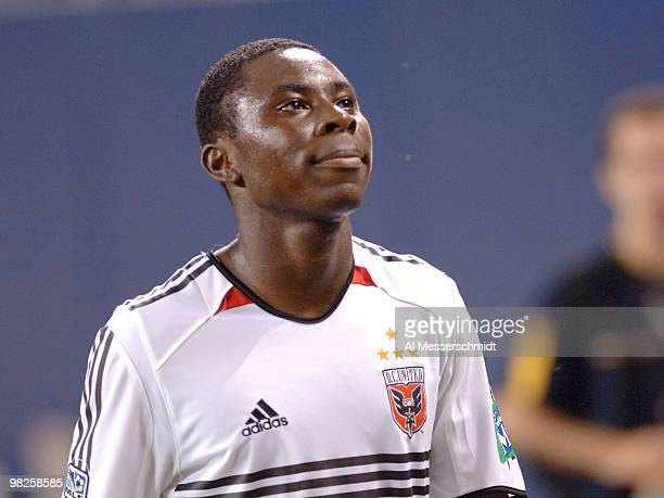 United forward Freddy Adu leaves the field June 29, 2005 in Chicago. Adu was scoreless in the second half and D. C. United lost to the Chicago Fire 4...