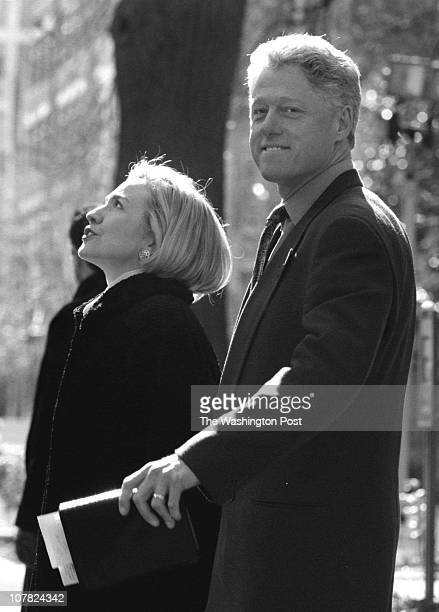 01/25/98 United Foundry Methodist Church 16th and P Sts DC Description Pres and first lady attend church service Pres Bill Clinton and first lady...
