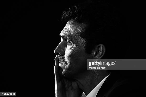 United head coach Guillermo Amor speaks to media after the round seven A-League match between Adelaide United and the Newcastle Jets at Coopers...