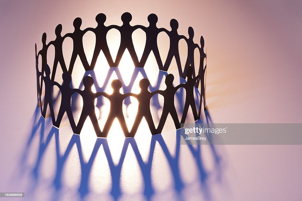 United in Ring of Brotherhood; Network, Unity, Family, Team : Stock Photo