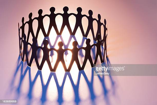 united in ring of brotherhood; network, unity, family, team - symbolism stock pictures, royalty-free photos & images