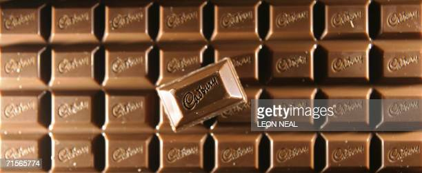 A bar of cadbury's chocolate is pictured in London 21 February 2006 British confectionery and soft drinks giant Cadbury Schweppes reported on...