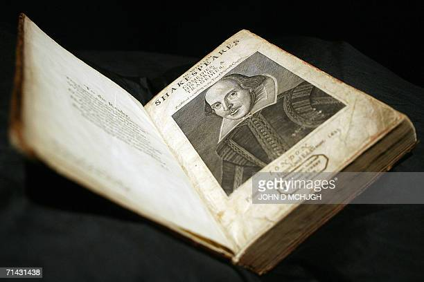 A First Folio edition of William Shakespeares' plays and considered to be one of the most important books in English literature is pictured at...
