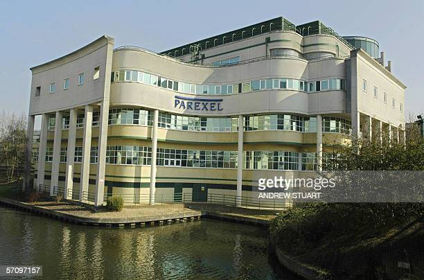 A general view of the Parexel drug research company building in Uxbridge in Middlesex northwest of London is pictured 15 March 2006 Six men were in...