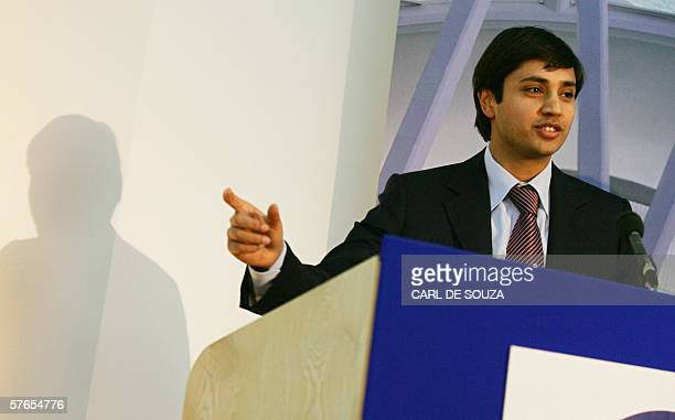 Aditya Mittal Chief Financial Officer of Mittal Steel speaks at a press conference at Cavendish House in London 19 May 2006 Mittal Steel brought big...