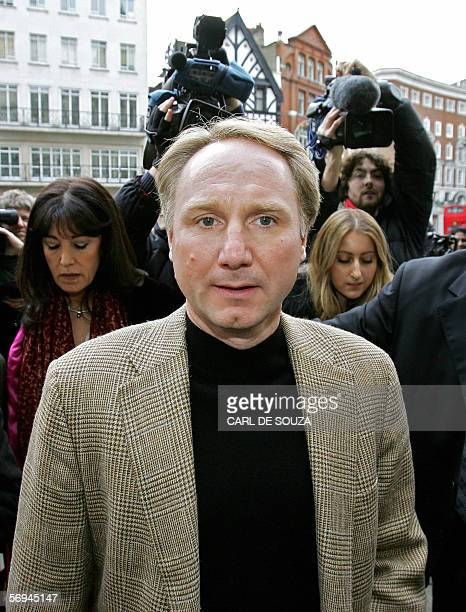 American author of the best selling book 'The Da Vinci Code' Dan Brown arrives at the High Court in London 27 February 2006 Richard Leigh and Michael...