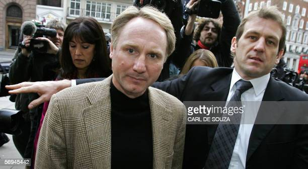 American author of the best selling book 'The Da Vinci Code' Dan Brown arrives at the High Court in London 27 February 2006 Author's Richard Leigh...