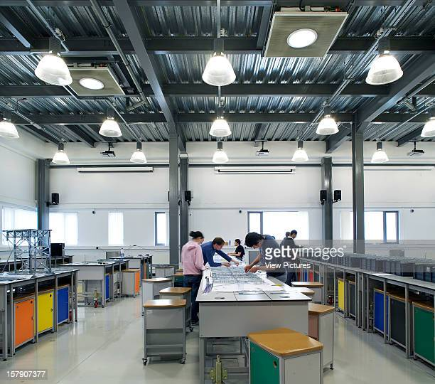 United Kingdom Architect Liverpool University Of Liverpool Faculty Of Engineering Interior Shot Of Students Working In A Spacious Modern Laboratory