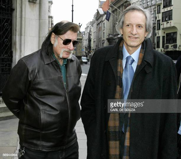 Authors Richard Leigh and Michael Baigent arrive at the High Court in London 27 February 2006 Leigh and Baigent are suing their own publishers Random...