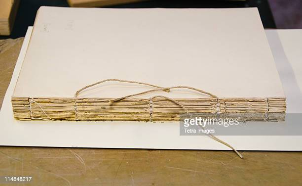 United Kingdom, Bristol, book binding workshop