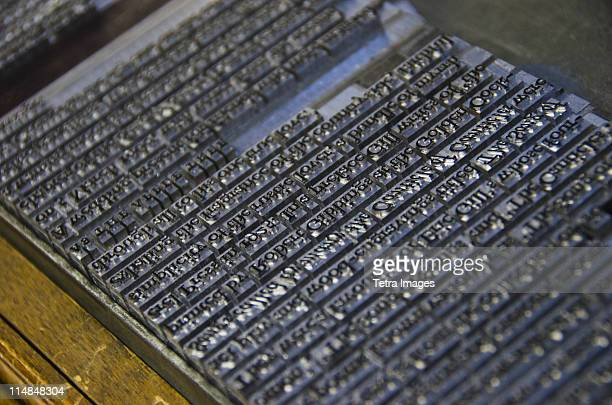 United Kingdom, Bristol, close up of printing plate