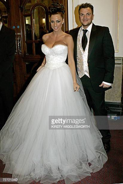 British glamour model Katie Price also known as 'Jordan' and her husband Peter Andre arrive at The Royal Variety performance in London 04 December...