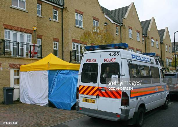 British police guard the entrance to the home of former Russian spy Alexander Litvinenko in north London 24 November 2006 Former spy Alexander...