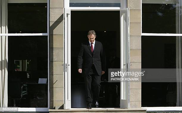 United Kingdom: British Prime Minister Tony Blair is pictured before the first working session of a G8 summit 07 July 2005, in Gleneagles. Series of...
