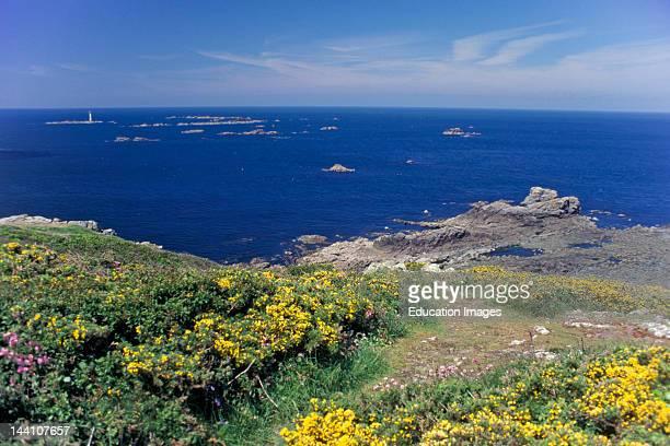 United Kingdom Channel Islands Guernsey Pleinmont Point Hanois Lighthouse