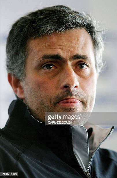 United Kingdom: Chelsea football club manager Jose Mourinho addresses a press conference at the team's training grounds in Cobham, in Surrey, 17...