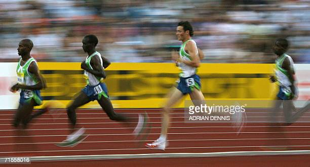 Craig Mottram of Australia participates in the men's 5000m event at the Norwich Union Grand Prix meet at Crystal Palace in southeast London 28 July...