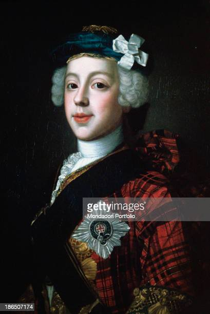 United Kingdom Edinburgh National Gallery of Scotland Whole artwork view Threequarters portrait of young Prince Charles Edward Stuart also known as...